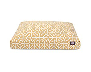 Citrus Aruba Small Rectangle Indoor Outdoor Pet Dog Bed With Removable Washable Cover By Majestic Pet Products