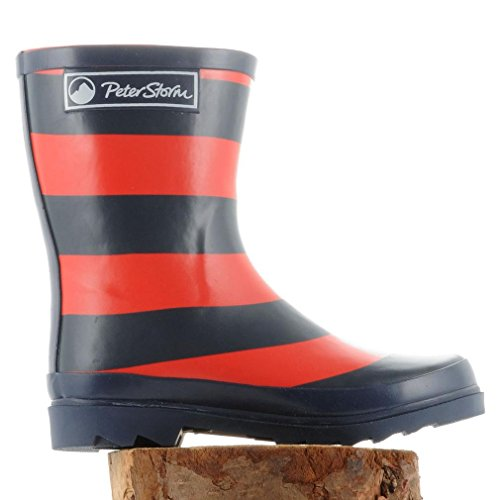 Peter Storm Jungen Stripe Wellies, Blau, 31.5