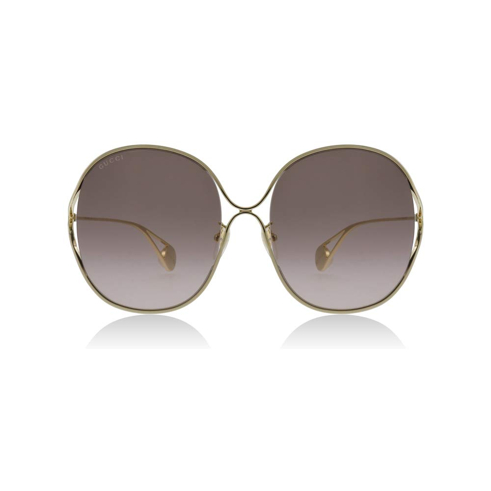 82d1377369e19 Amazon.com  Gucci GG0362S 002 Gold GG0362S Square Sunglasses Lens Category  2 Size 57mm  Clothing
