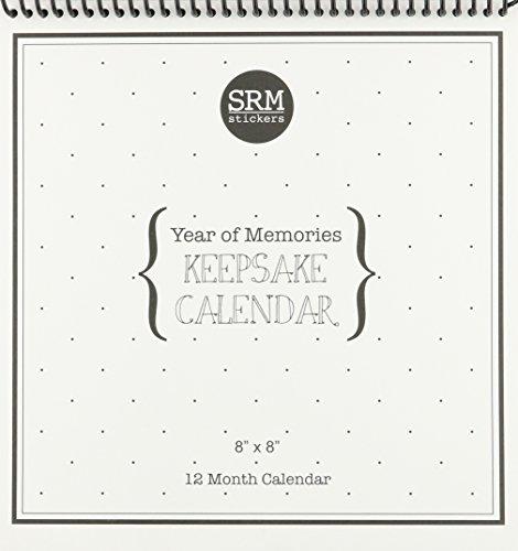 SRM Stickers Keepsake Calendar, 8 by 8-Inch ()