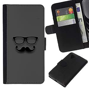 KingStore / Leather Etui en cuir / LG Nexus 5 D820 D821 / Sir Gris Hipster