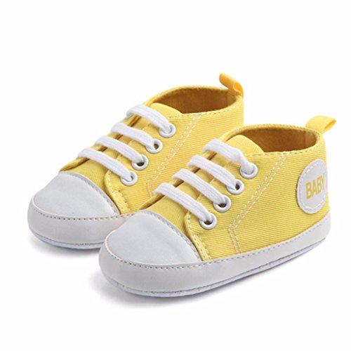 Nacido Primeros Bebe Lona K Deporte Antideslizante Zapatos De Zapatilla Recién Bebé Zapatillas youth® Niño Amarillo Pasos gqFRU8xR