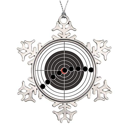 Boyce22Par Xmas Trees Decorated Machine Gun Bullet Holes Over Shooting Target Halloween Snowflake Ornaments