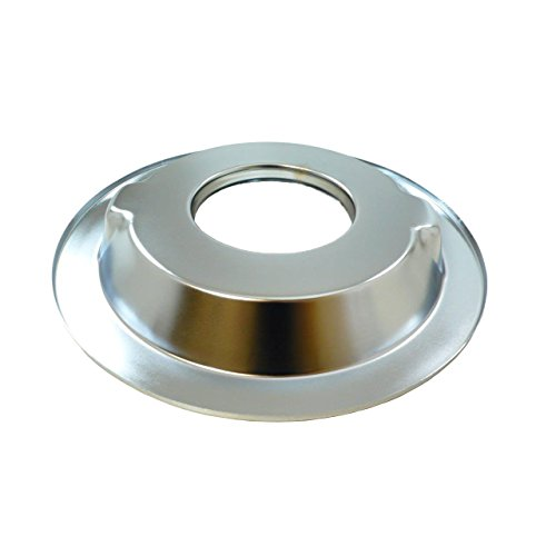"""MotorNets 14"""" Round Chrome Steel Air Cleaner Base Only SBC BBC Chevy Flat Recessed Dominator Off-Set hi-Lip (Recessed Base)"""