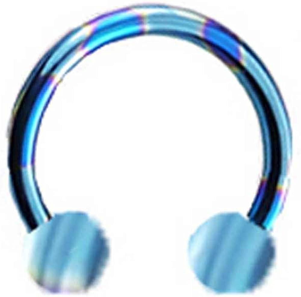 "Titanium Hinged Segment Ring Nose Hoop Ear Cartilage 5//16/"" 7.9mm 16 Gauge 16G"