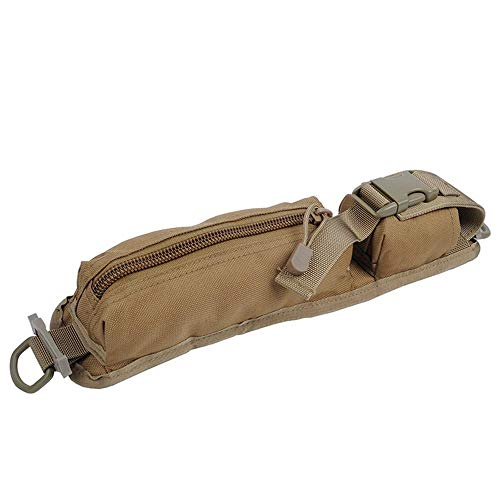 LIVIQILY Two Colors Tactical Molle Accessory Pouch Backpack Shoulder Strap  Bag Hunting Tools Pouch (Tan 2e225a4639226