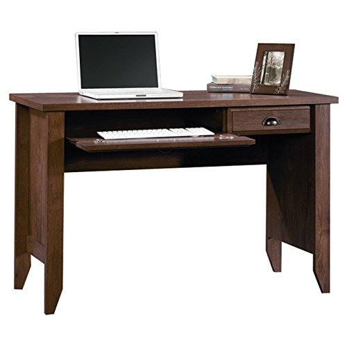 2-Drawer Traditional Home Office Computer Desk with Silver Nickel Pulls in Oiled Oak by Andover Mills