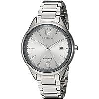 Citizen Women's 'Eco-Drive' Quartz Stainless Steel Dress Watch, Color Silver-Toned (Model: FE6100-59A)