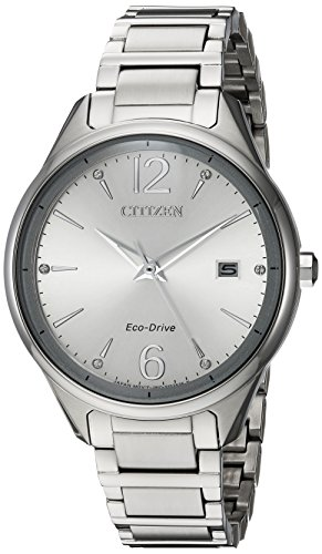 Citizen Women's 'Eco-Drive' Quartz Stainless Steel Dress Watch, Color:Silver-Toned (Model: FE6100-59A)