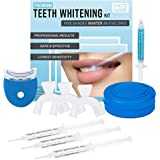 M3 Naturals Teeth Whitening Kit with LED Light Professional Stain Remover Non Sensitive 35% Peroxide Gel Oral Remineralization Gel Custom Trays Retainer Case 5