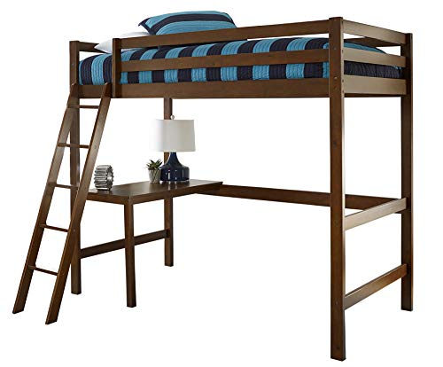 Hillsdale Furniture 2178-320 Hillsdale Caspian Study Twin Loft Bed, Walnut