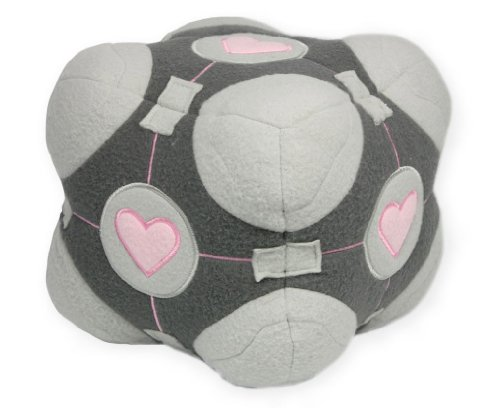 Official Valve Portal Weighted Companion Cube Plush -
