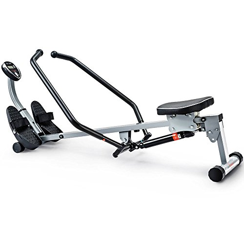 Thickly Padded Seat, Rowing Machine with Full Motion Arms, Gray