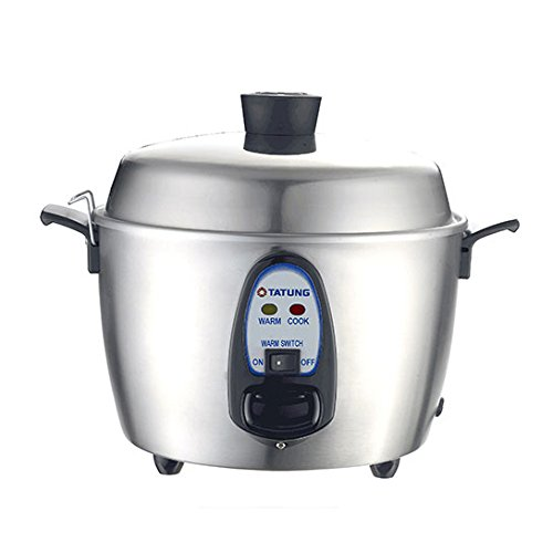 Tatung – TAC-06KN(UL) – 6 Cup Multi-Functional Stainless Steel Rice Cooker – Silver by Tatung