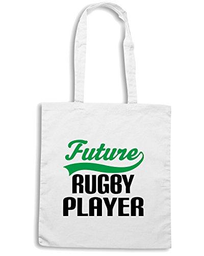 T-Shirtshock - Bolsa para la compra TRUG0014 future rugby player kids logo Blanco