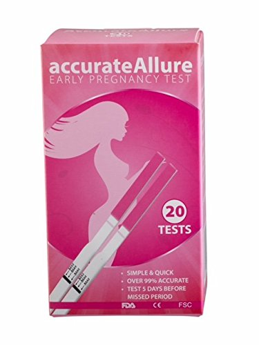 Accurate Allure Pregnancy Tests (20 Pack) – Reliable Early Response Strips – Clinical Accuracy to 99.9% - Fast, Reliable Answer in 5 Minutes – Easy to Use Home Pregnancy Kit
