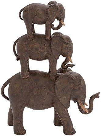 Deco 79 Polystone Elephant Stack