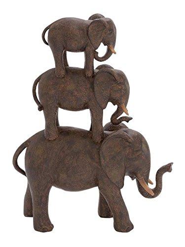 Deco 79 Polystone Elephant Stack, 10 by 14-Inch