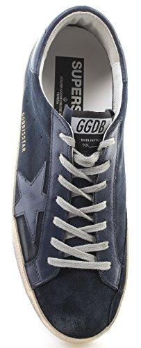 Golden Goose Scarpe Sneakers Uomo Superstar G31MS590D31 Blue Suede Navy Star ITA