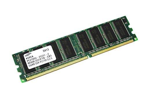 (Genuine Samsung PC2700U-25331-Z Computer Memory Desktop 256MB DDR PC2700 CL2.5 M368L3223FTN-CB3)