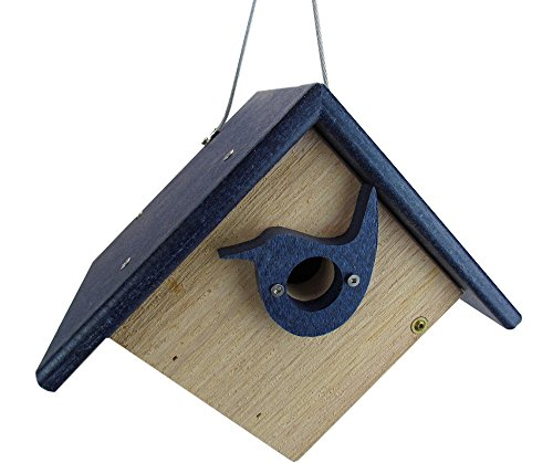 Nature Products USA Classic Blue Cedar & Recycled Poly Lumber Wren Birdhouse