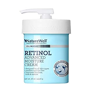 NatureWell Retinol Advanced Moisture Cream for Face & Body, 16 oz. | Clinical | Improves Firmness, Tone & Texture