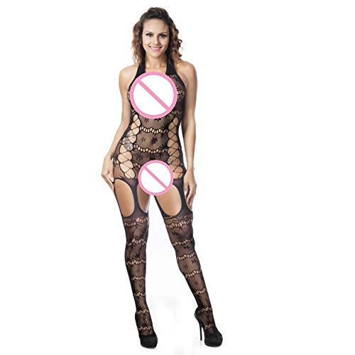 Amazon.com: SGMORE Sleepwear Jumpsuits Conjoined Net Sexy ...