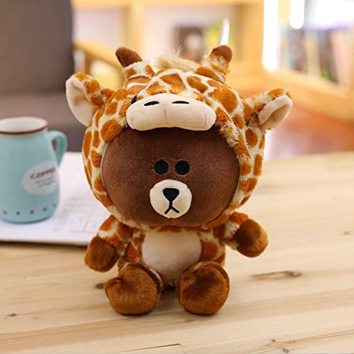 GOONEE Bear Plush Toy - Bear Plush Toy Bear in Cute Suit Cute Animal Stuffed Soft Doll Baby Kids Toys Child's Gift - 24 Inch Giraffe - Polar Black Gummy Brown Small Grumpy White Bare Big