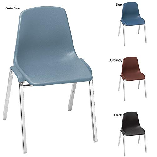 National Public Seating Classroom Pack Poly Shell Stack Chairs (Case of 24) Blue ()