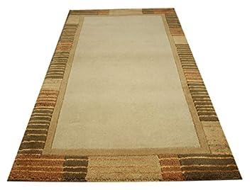 Teppich Nepal Brücke 70x140 cm 100/% Wolle mit Seide braun