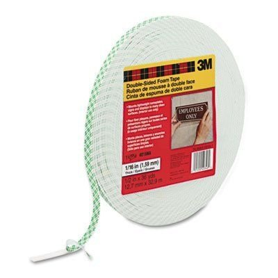 (3M Double-Coated Foam Tape, Holds 2 Lb, 1/2-Inch X 36 Yards (MMM401612))
