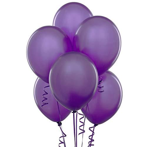 12 Inch Latex Balloons (Premium Helium Quality), Pack of 100, Purple