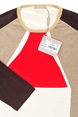 54 Marfil Suéter Algodón Cruciani rojo Hombre Casual Marrón Normal 8dZPqSwE