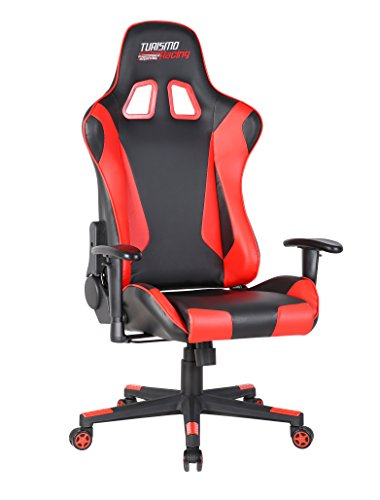 turismo racing ancora series gaming chair big and tall black and red seat has dual. Black Bedroom Furniture Sets. Home Design Ideas