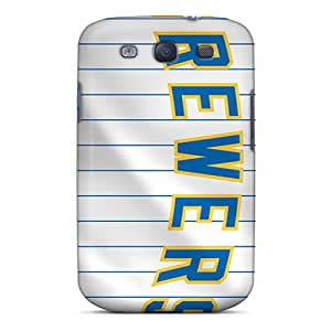 Best-phone-covers Galaxy S3 Comfortable Phone Hard Cover Allow Personal Design Fashion Milwaukee Brewers Series [QPq8981uyxZ]
