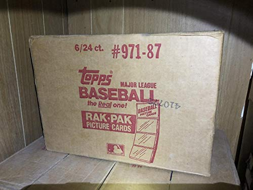 (1987 Topps Baseball Card Set 6 Rack Pack Box SEALED CASE Barry Bonds Rookie Rak 12 Wax Box)