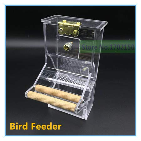 Topsame New Bird automatic feeder Tidy Seed No-Mess Bird Feeder parrot food feeding bowl breeder canary cockatiel finch Colorful Munia by Topsame