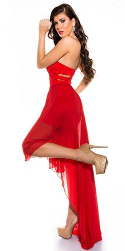 In-Stylefashion - Vestido - Top corto - para mujer Rojo
