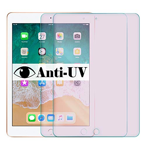 【Anti-UV Eye Protection】【2 pack 】9.7inch 5th 6th generation tempered glass compatible with apple ipad 9.7 screen protector 5/6 gen ipad9.7 inch pro air 1 2 2017 2018 protective A1822 A1823 A1954 A1893