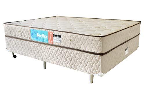 Conjunto Box Completo Queem Becflex. Classic. 1,58 x 1,98 x 0,48 Densidade 80kg/m³(Cama Box + Colchão)