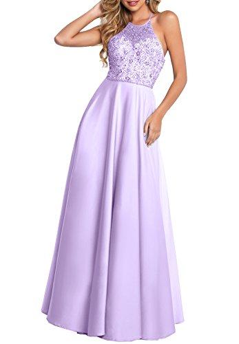 Beauté Des Femmes De Mariée Robe De Bal Licol Robes Formelles De Soirée Perles Longue Avec Lilas