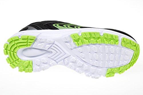 gibra - Zapatillas de sintético/textil para mujer Negro - Schwarz/Neongrün