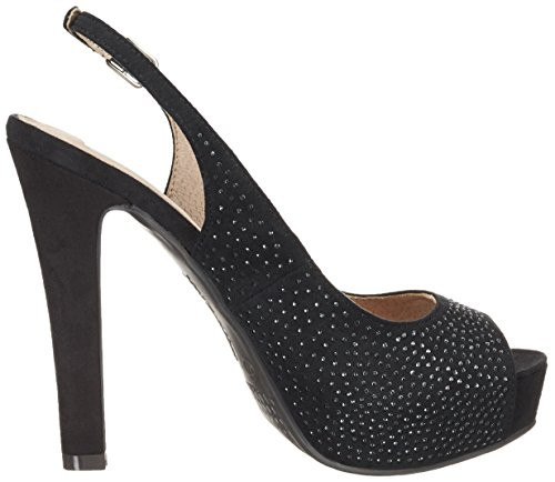 XTI Black Microfiber Ladies Shoes . - Zapatos Mujer Schwarz (Black)