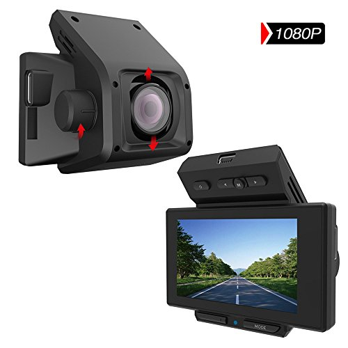 "PEMENOL Dashboard Camera Full HD 1080P 2.7"" LCD 170 Degree Wide Angle Car DVR Camcorder Super Mini Dash Cam Recorder with G-Sensor, Loop Recording, WDR"