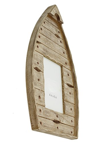 Old River Outdoors Rustic Wooden Canoe 4x6 Picture Photo Frame - Wall Mount ()