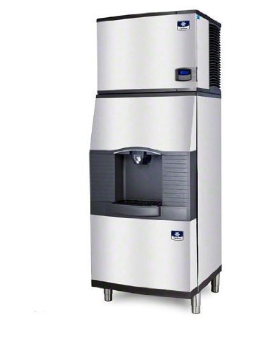 Manitowoc IY-0505W-SPA-310 550 Lb Water-Cooled Half Cube Ice Machine w/ SPA-310 Hotel Dispenser