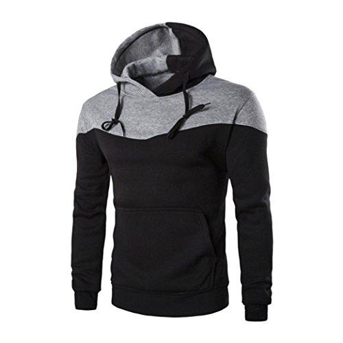 Jushye Men's Hoodies, Mens Autumn Men Winter Hoody Slim Hoodie Warm Hooded Sweatshirt Coat Jacket Outwear Sweater,Ship it from US Wearhouse (L, Black)