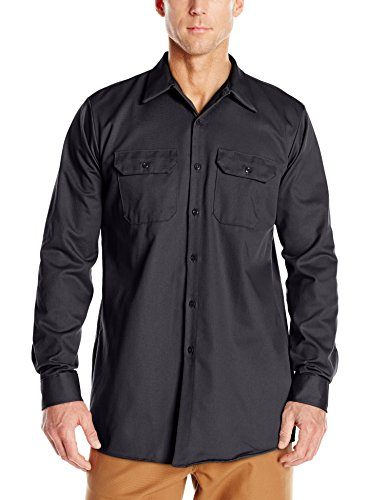 picture of Red Kap Men's Deluxe Heavyweight Cotton Shirt, Charcoal, Small