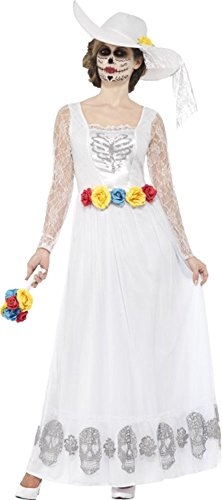 Costumes Halloween Bride Uk Dead (Day Of The Dead Skeleton Bride Costume Medium Uk Dress)