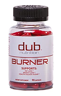 Fat Burner by dub Nutrition   Best Weight Loss Pills Thermogenic Supplement   Natural Energy and Appetite Suppressant, Includes Red Rasberry Ketones, Guarana, and BCAA. Healthy Blood Sugar Levels.